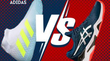 Zapatillas de pádel Asics y Adidas